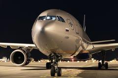 ТЕНЕРИФЕ 24-ОЕ НОЯБРЯ: самолет в автостоянке, 24-ое ноября 2017, Tenerif Стоковая Фотография