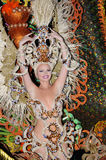 ТЕНЕРИФЕ, 17-ОЕ ФЕВРАЛЯ: Группы масленицы и костюмированные характеры Стоковая Фотография RF