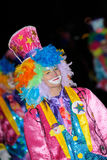 ТЕНЕРИФЕ, 17-ОЕ ФЕВРАЛЯ: Группы масленицы и костюмированные характеры Стоковое фото RF
