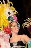 ТЕНЕРИФЕ, 17-ОЕ ФЕВРАЛЯ: Группы масленицы и костюмированные характеры Стоковые Изображения RF