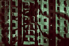 Тени большого города стоковые изображения rf