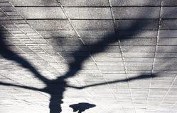 Тени города зимы Стоковые Изображения