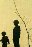 Тени детей Стоковое фото RF