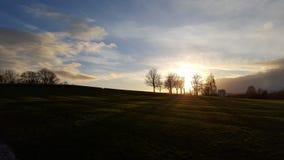 Тени захода солнца Стоковое фото RF