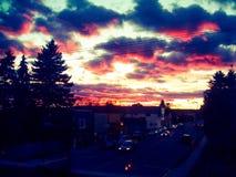 Тени захода солнца Стоковые Изображения