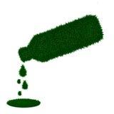 тени зеленого цвета травы изолированные s бутылки Стоковая Фотография RF