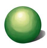 Тени зеленого ЖЕЛАНИЯ форма Стоковое Изображение RF