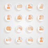Тени кнопки значков финансов Стоковое Изображение RF