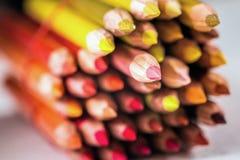 Тени красных карандашей Стоковые Фото