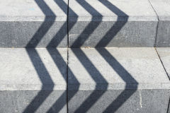 Тени на лестнице Стоковая Фотография