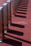 Тени на современных штендерах столбцов Стоковые Изображения