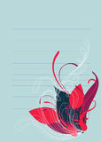 тени предпосылки цветастые флористические живые Стоковое Изображение RF