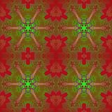 Тени регулярн темноты картины звезды - красные и зеленые иллюстрация вектора