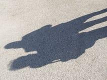 Тени людей на бетоне Стоковое Изображение RF