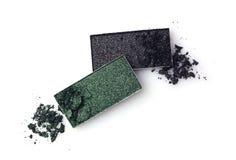Тени для век задавленные зеленым цветом Стоковые Фотографии RF