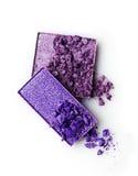 Тени для век задавленные пурпуром Стоковое Фото
