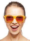 тени девушки счастливые кричащие подростковые Стоковые Фото