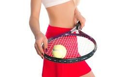 Теннисист с ракеткой Стоковые Фотографии RF