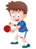 Теннисист таблицы шаржа Стоковое Изображение