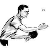 Теннисист таблицы иллюстрация штока
