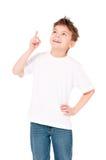 Тенниска на мальчике Стоковые Изображения