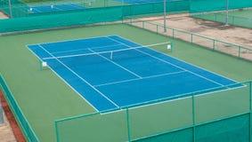 Теннисный корт на теннисном клубе Стоковые Изображения
