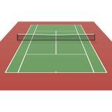 Теннисный корт Стоковое Изображение