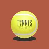 Теннисный мяч как логотип в векторе иллюстрация штока