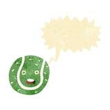 теннисный мяч шаржа с пузырем речи Стоковое фото RF