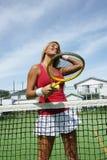 теннис девушки Стоковое Фото