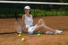 теннис девушки Стоковое Изображение RF