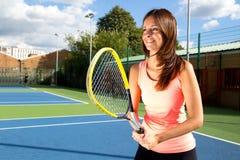 теннис девушки Стоковые Фотографии RF