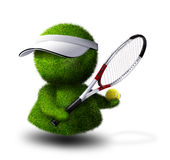 теннис игрока иллюстрация вектора
