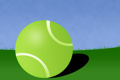 теннис иллюстрации суда шарика Стоковые Изображения