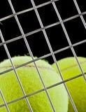 теннис крупного плана шариков предпосылки черный Стоковые Изображения RF