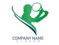 Теннис логотипа на белой предпосылке Стоковое Фото