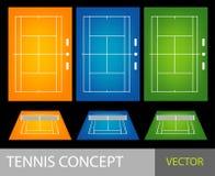 теннис принципиальной схемы иллюстрация вектора