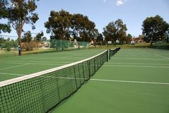 теннис публики суда Стоковое Изображение RF