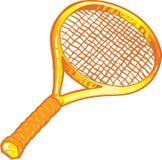 теннис ракетки иллюстрации золота иллюстрация вектора