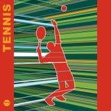 теннис сервера Иллюстрация штока