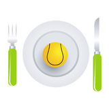 теннис тарелки шарика иллюстрация штока