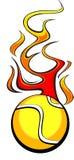 теннис шарика пламенеющий Стоковые Изображения