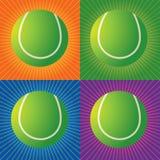 теннис шариков ретро иллюстрация вектора