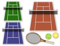 теннис элементов собрания Стоковое Изображение