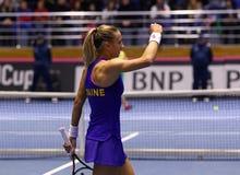 Теннис FedCup: Украина v Австралия в Харькове, Украине Стоковая Фотография
