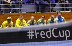 Теннис FedCup: Украина v Австралия в Харькове, Украине Стоковые Фотографии RF