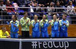 Теннис FedCup: Украина v Австралия в Харькове, Украине Стоковая Фотография RF