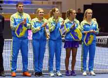 Теннис FedCup: Украина v Австралия в Харькове, Украине Стоковое Изображение RF