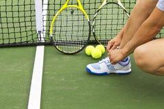 теннис preperation Стоковое Изображение RF
