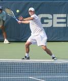 теннис roddick игрока удар справа стоковое изображение rf
